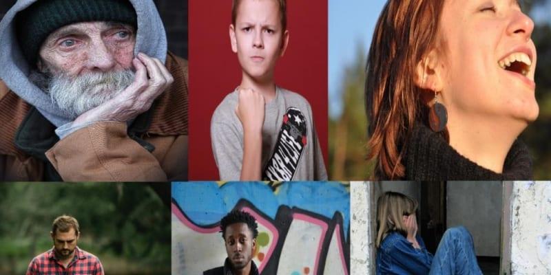 Verschiedene Gesichtsausdrücke zeigen unterschiedliche Emotionen, Fotos: Stencil