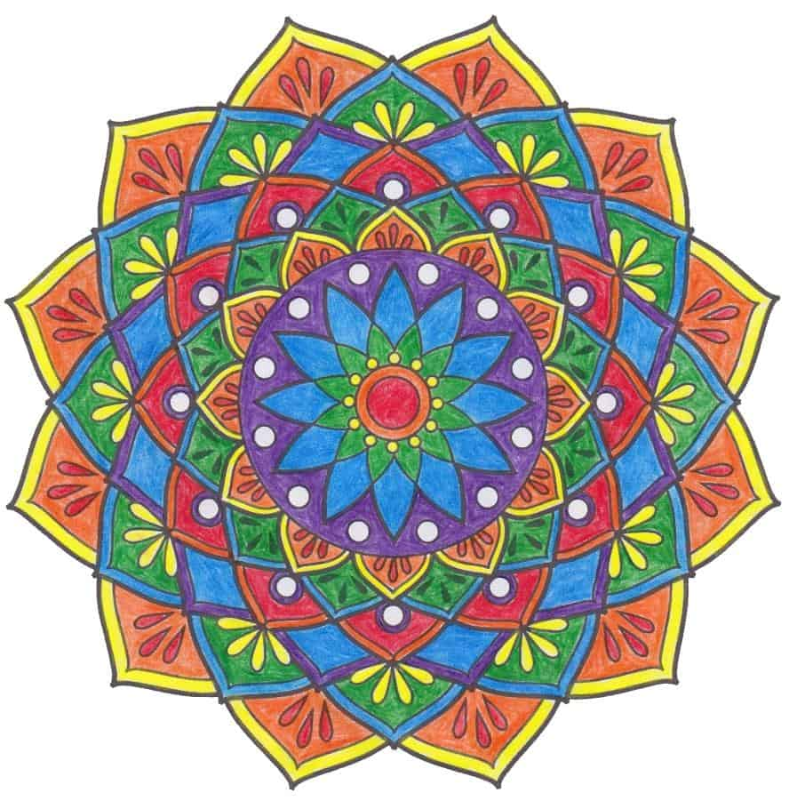 Mandala, angemalt von Sabine Eggersglüß, Curandera Bomlitz
