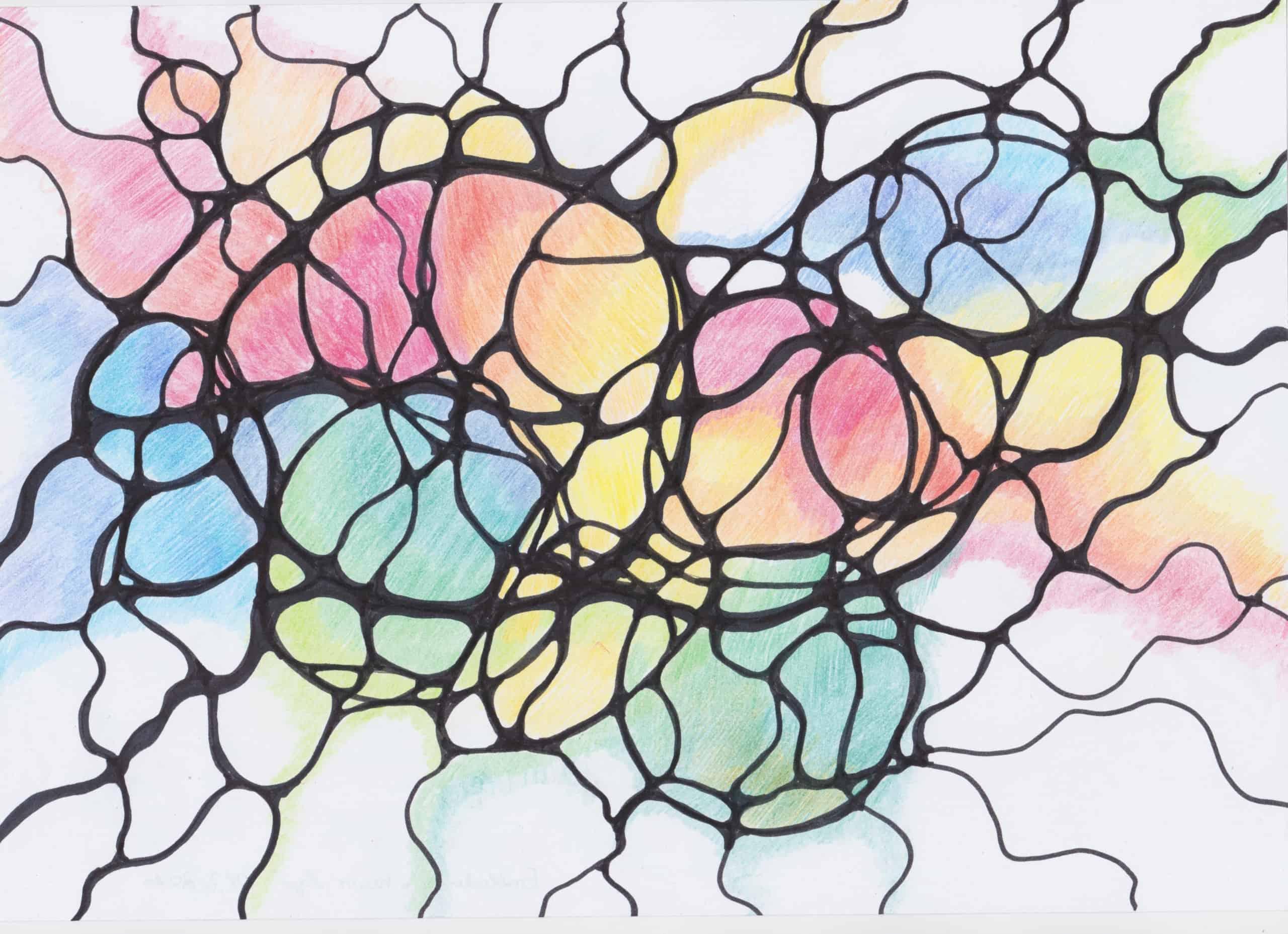 Neurographisches Zeichnen mit Sabine Eggersglüß/Curandera Bomlitz: Entladung