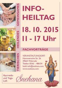 Plakat Info-Heiltag Snehana Walsrode 18.10.2015