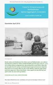 Newsletter der Webseite www.curandera-bomlitz.de